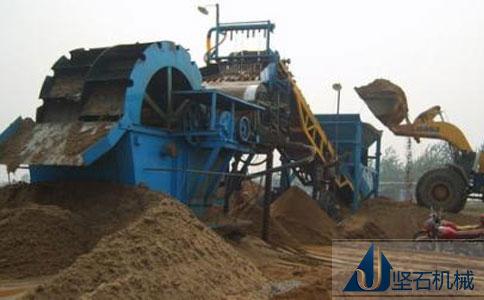 坚石洗砂机设备绵阳生产现场