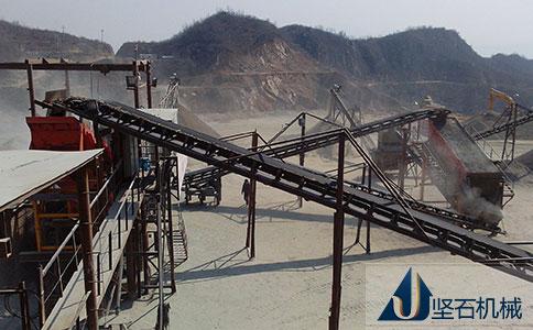 四川南充石料生产线生产现场
