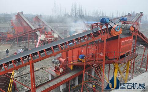 坚石日处理200方石料线贵州现场