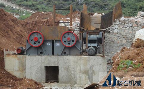 坚石石料生产线设备云南红河安装现场
