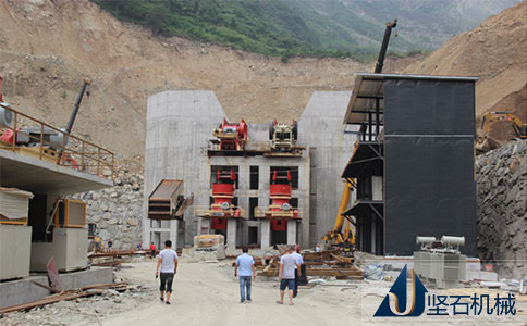 坚石石料生产线四川宜宾安装现场